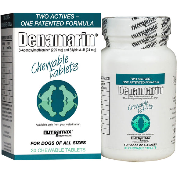 Denamarin 225 mg for Dogs of All Sizes (30 Chewable Tabs)-Supplements-Nutramax-The Classic Pooch