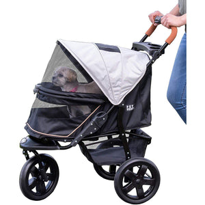 Summit Grey AT3 No Zip Stroller-Strollers-Pet Gear-The Classic Pooch