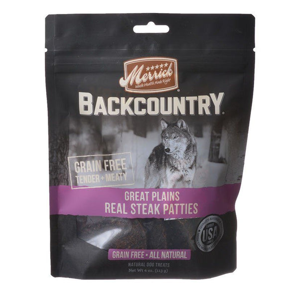 Merrick Backcountry Great Plains Real Steak Patties-Dog Treat-The Classic Pooch