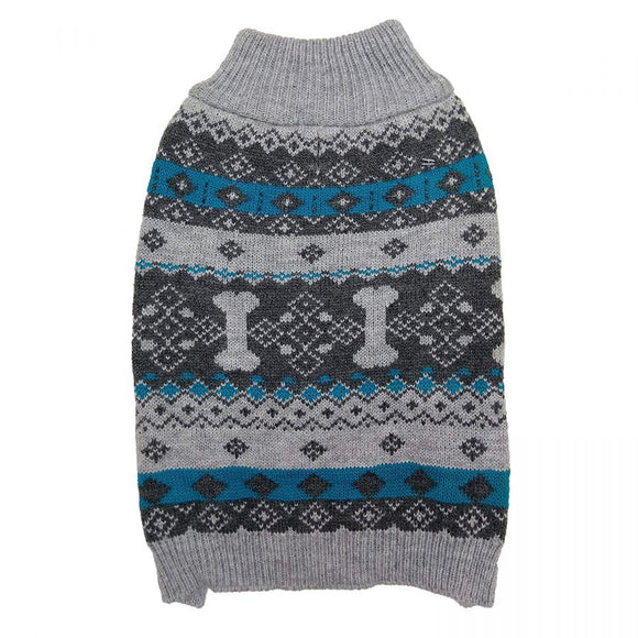 Fashion Pet Nordic Knit Dog Sweater - Gray-Apparel-Fashion Pet-Small-The Classic Pooch