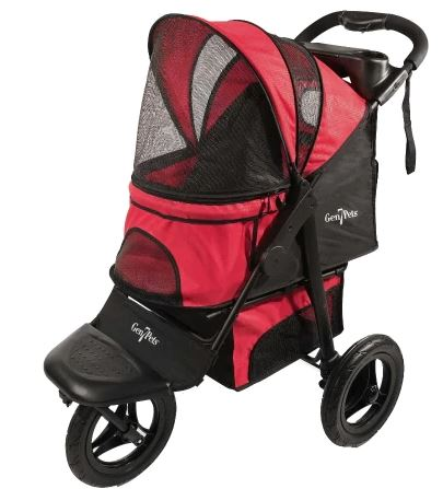 Gen7Pets G7 Jogger Pet Stroller, Pathfinder Red-Strollers-Gen7Pets-The Classic Pooch