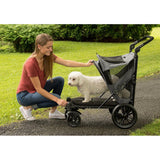 Excursion No-Zip Pet Stroller-Strollers-Pet Gear-Dark Platinum-The Classic Pooch