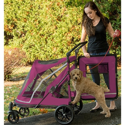 Expedition No-Zip Pet Stroller, Boysenberry-Strollers-Pet Gear-The Classic Pooch