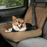 Solvit Car Cuddler Seat-Car Accessories-PetSafe - Solvit-Brown-Small-The Classic Pooch