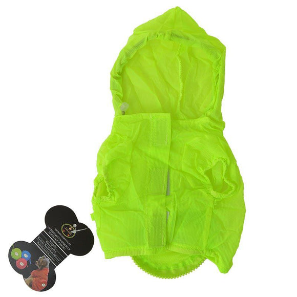 Pet Life Ultimate Waterproof Thunder-Paw Zippered Travel Dog Raincoat-Apparel-Ethical-X-Small-Yellow-The Classic Pooch