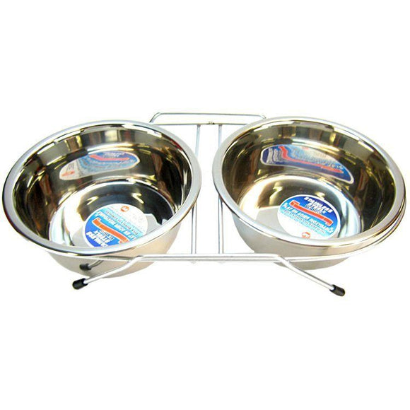 Spot Stainless Steel Double Diner-Dog Bowl-The Classic Pooch