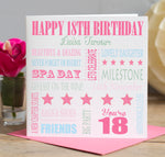 18th Birthday Card For Her