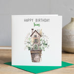 Happy Birthday Eucalyptus Card