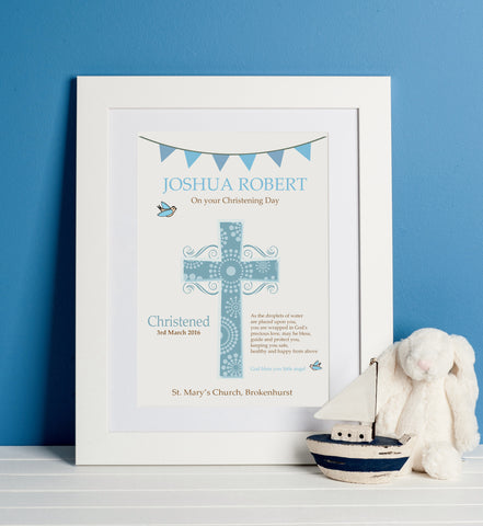 Personalised Christening / Baptism Print