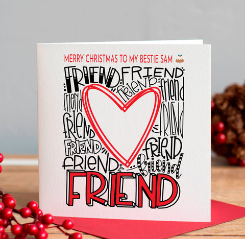 Personalised Friend Christmas Card