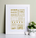 Golden Wedding Anniversary Print
