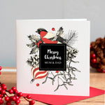 Personalised Winter Bird Christmas Card