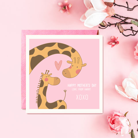 Mum & Child Giraffe Mothers Day Card