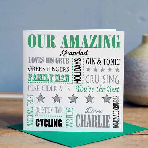 Grandad Word Art Card