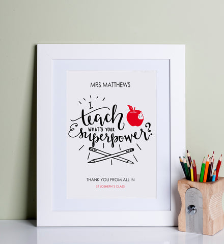 Teacher Superhero Print