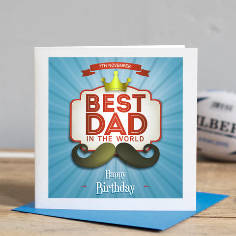 Personalised Best Dad Birthday Card