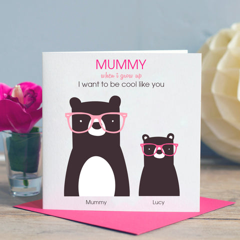 Cool Mummy Bear Card