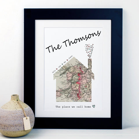 Place We Call Home Map Print