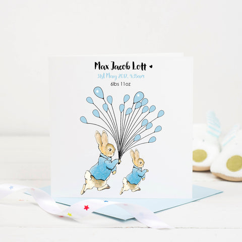 New Baby Card - Peter Rabbit