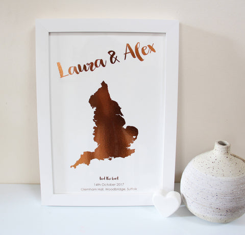 Personalised Metallic Destination Print