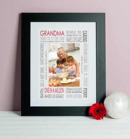 Grandma Loves Photo Print