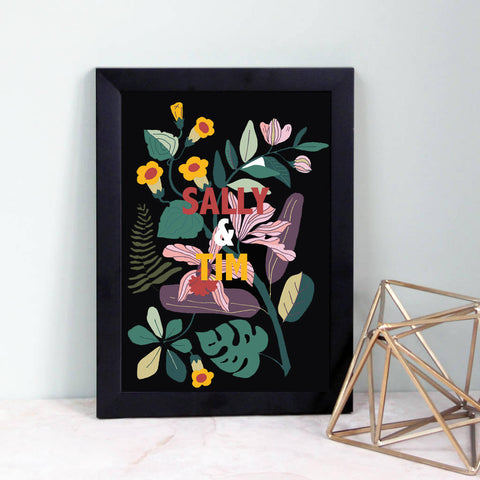 Botanical Couple's Print