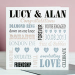 Personalised Engagement Card - Word Art