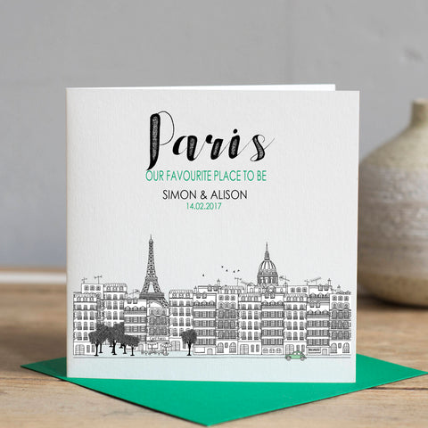 Paris Skyline Card