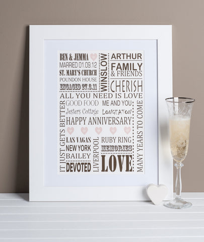 Wedding Anniversary Print