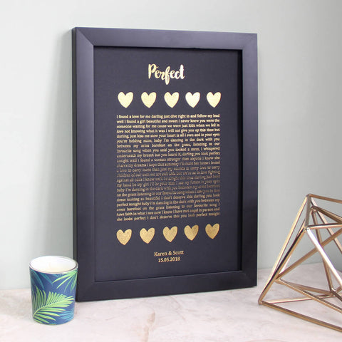 Metallic Song Lyrics Print