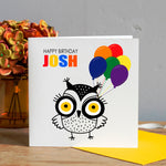 Child's Birthday Card - Owl