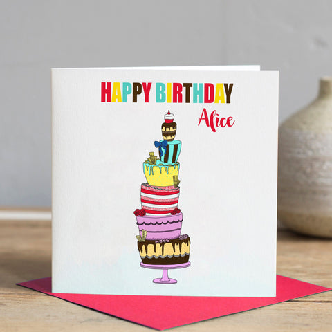 Personalised Birthday Card - Cake