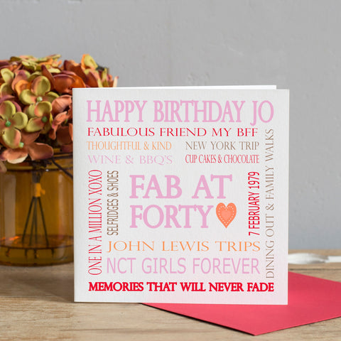 Personalised Friend Birthday Card