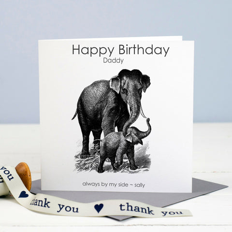 Dad Birthday Card - Elephants