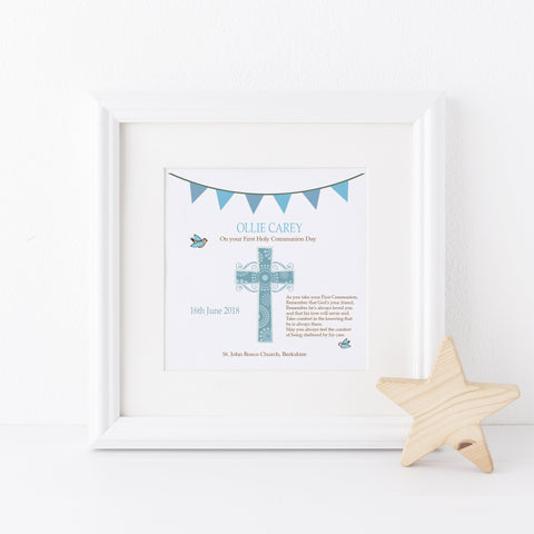 Boy's 1st Holy Communion Frame