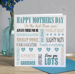 Mothers Day Card - Teal