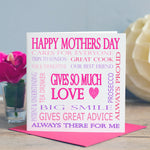Mothers Day Card - Word Art