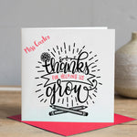 Thank you Teacher Card - Grow