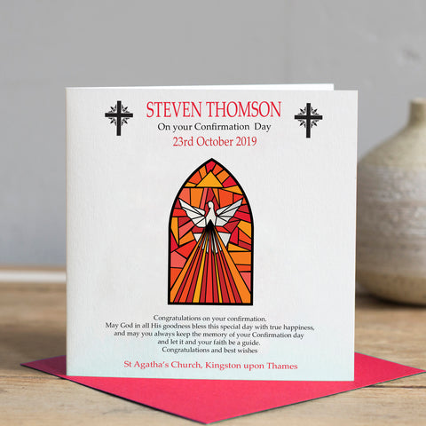 Personalised Confirmation Card - Holy Spirit