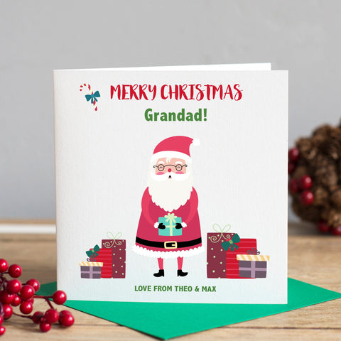 Personalised Grandad Christmas Card