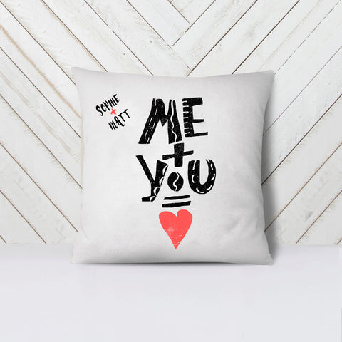 Personalised Me & You Cushion