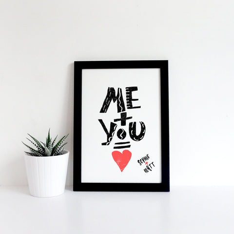 Personalised Me & You Print