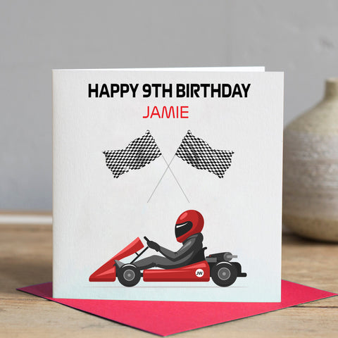 Go Kart Birthday Card