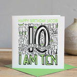 Personalised 10th Birthday Card