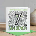 Personalised 7th Birthday Card