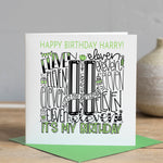Personalised 11th Birthday Card