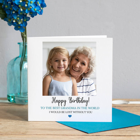 Personalised Grandma Birthday Card, Grandma Photo Card, Photo Card, Custom Birthday Card, Birthday Cards for Grandmothers, Nan Birthday Card