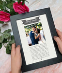 Song Lyrics Photo Print, Wedding Song Lyrics Gift, Song Lyrics Print, Anniversary Photo Gift,  Personalised Lyrics Frame, Anniversary Gift
