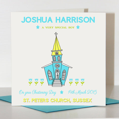 Boy's Christening Card