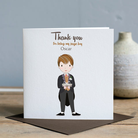 Thank You Page Boy Card